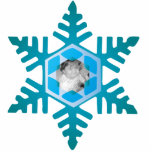 Snowflake Photo Personalized Christmas Ornament Standing Photo Sculpture