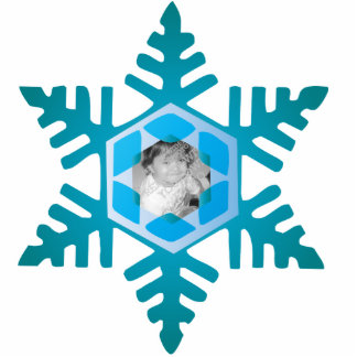 Snowflake Photo Personalized Christmas Ornament Cut Out
