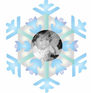 Snowflake Photo Personalized Christmas Ornament Photo Cut Outs