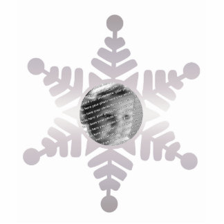 Snowflake Photo Personalized Christmas Ornament Acrylic Cut Out