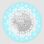 Snowflake Photo Stickers