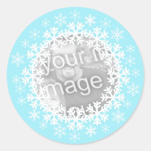 Snowflake Photo Stickers