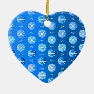 Snowflake Polka Dots Ceramic Ornament