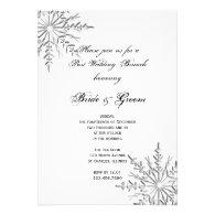 Snowflake Post Wedding Brunch Invitation