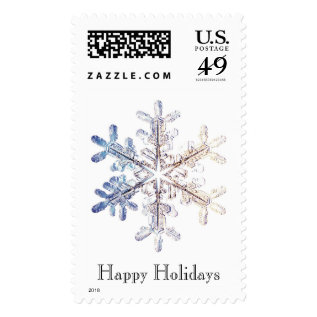 Snowflake Postage at Zazzle