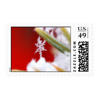 Snowflake Postage For Christmas Greeting Cards
