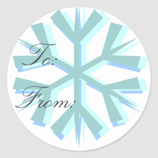 Snowflake Present Sticker