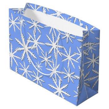 Snowflake Print Large Gift Bag