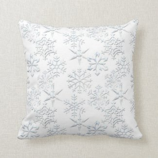Snowflake Print MoJo Pillows