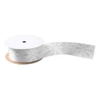 Snowflake Print Satin Ribbon