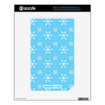Snowflake print skins for the NOOK color
