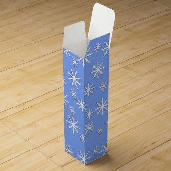 Snowflake Print Wine Box