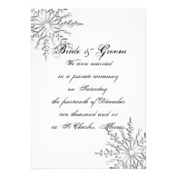 Snowflake Private Marriage / Elopement Custom Invitations