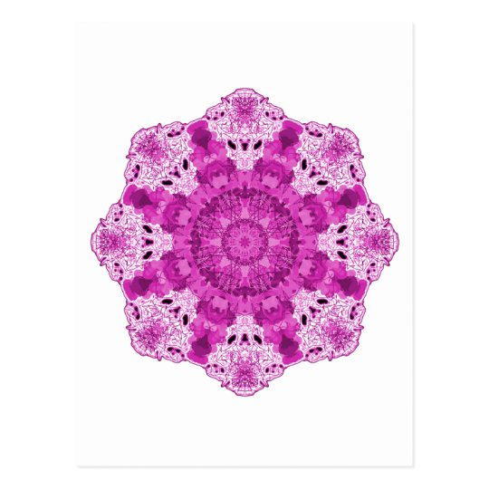 Snowflake Purple Postcard