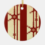 Snowflake Red Ornament