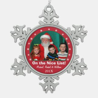 Snowflake Red Photo Ornament