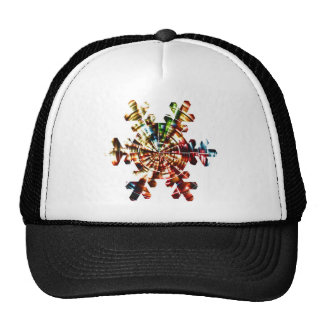 Snowflake - Red Sparkle Holistic Pattern Trucker Hat