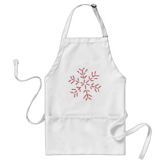Snowflake - Red Stitches Adult Apron