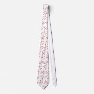 Snowflake - Red Stitches Tie