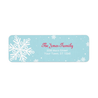 Snowflake Return Address Label