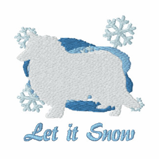 Snowflake Rough Collie Embroidered Sweatshirt