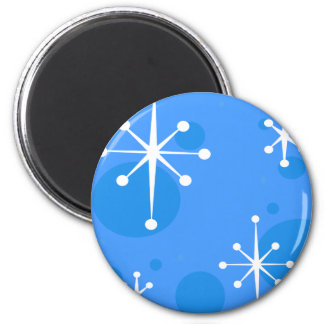 SNOWFLAKE ROUND MAGNET