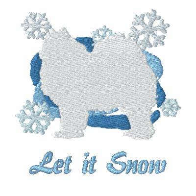 Snowflake Samoyed Embroidered Shirt (Long Sleeve)