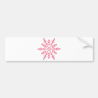snowflake save vintage holiday christmas bumper sticker