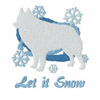 Snowflake Schipperke Embroidered Shirt (Sweatshrt)
