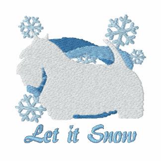 Snowflake Scottish Terrier Embroidered Sweatshirt