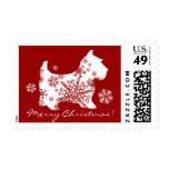 Snowflake Scotty Dog Christmas Postage