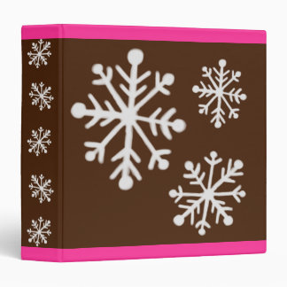 Snowflake Scrapbook Binder