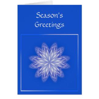 Snowflake Season's Greetings Card Template