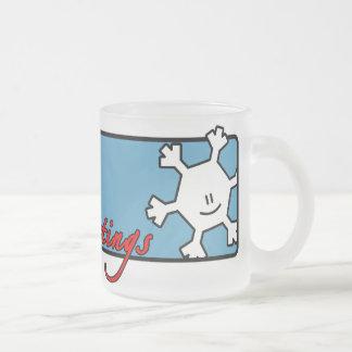 Snowflake Season's Greetings Mug