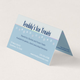 Snowflake Shaved Ice Full Listing Business Card