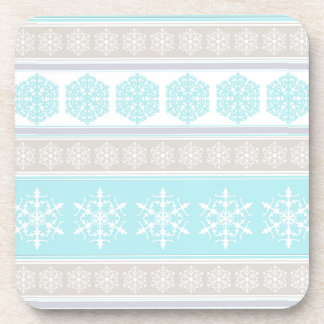 Snowflake Ski Sweater Powder Blue and Beige Coaster