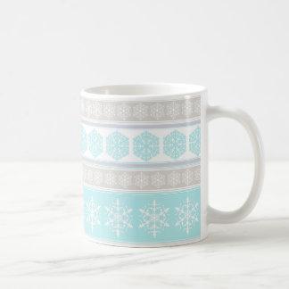 Snowflake Ski Sweater Winter Design Mug