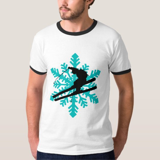 snowflake skiing T-Shirt