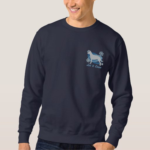 Snowflake Smooth Collie Embroidered Sweatshirt
