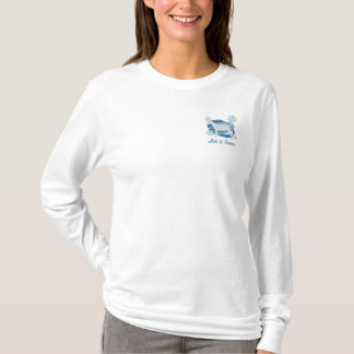 Snowflake Smooth Portuguese Podengo Embroidered Long Sleeve T-Shirt