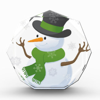 Snowflake Snow Winter Snowy Blizzard Snowman Acrylic Award