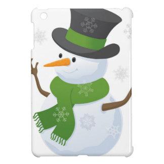 Snowflake Snow Winter Snowy Blizzard Snowman Cover For The iPad Mini