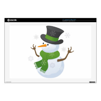 """Snowflake Snow Winter Snowy Blizzard Snowman Decal For 17"""" Laptop"""