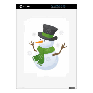 Snowflake Snow Winter Snowy Blizzard Snowman Decals For iPad 2