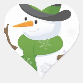 Snowflake Snow Winter Snowy Blizzard Snowman Heart Sticker