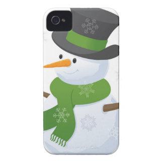 Snowflake Snow Winter Snowy Blizzard Snowman iPhone 4 Case