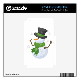 Snowflake Snow Winter Snowy Blizzard Snowman iPod Touch 4G Skins