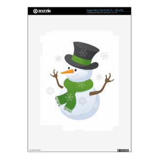 Snowflake Snow Winter Snowy Blizzard Snowman Skin For iPad 3