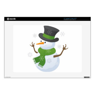 Snowflake Snow Winter Snowy Blizzard Snowman Skins For Laptops