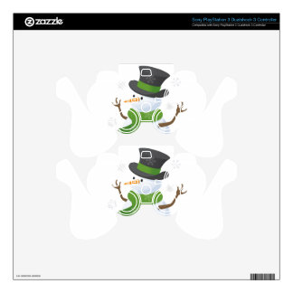 Snowflake Snow Winter Snowy Blizzard Snowman Skins For PS3 Controllers
